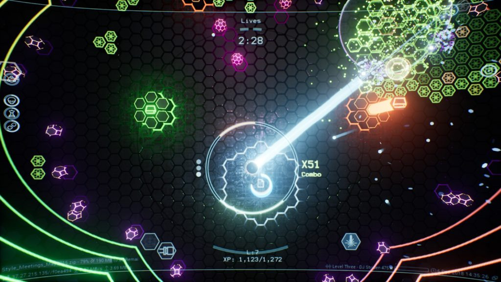 Cyberpunk Twin Stick Shooter Uploading Virus