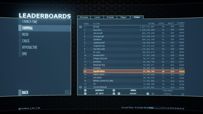 Leaderboards are segmented by days, weeks, months and seasons