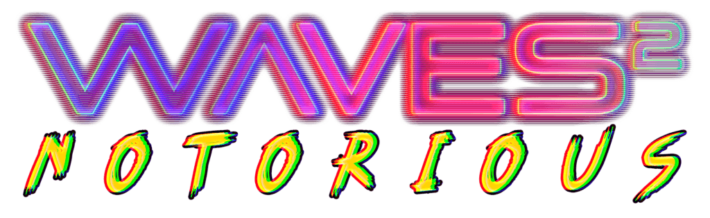 Cyberpunk Twin Stick Shooter Waves 2 Notorious Logo
